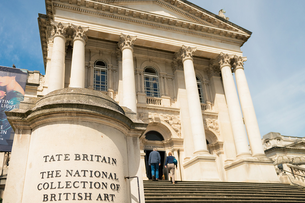 The exterior of The Tate Britain