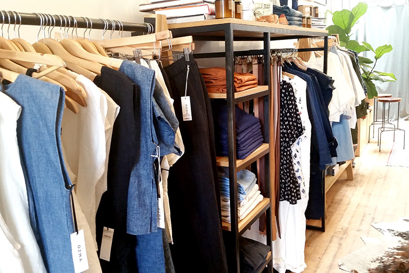 Men's and women's apparel at Taylor Stitch