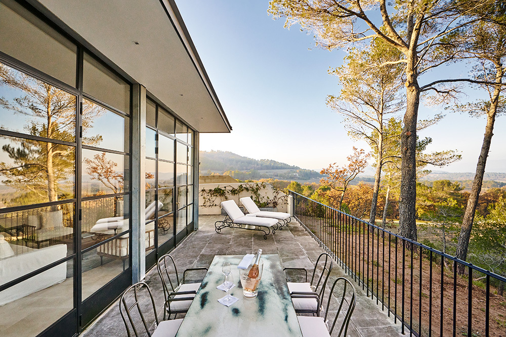 Pavillon Suite private terrace at Villa La Coste