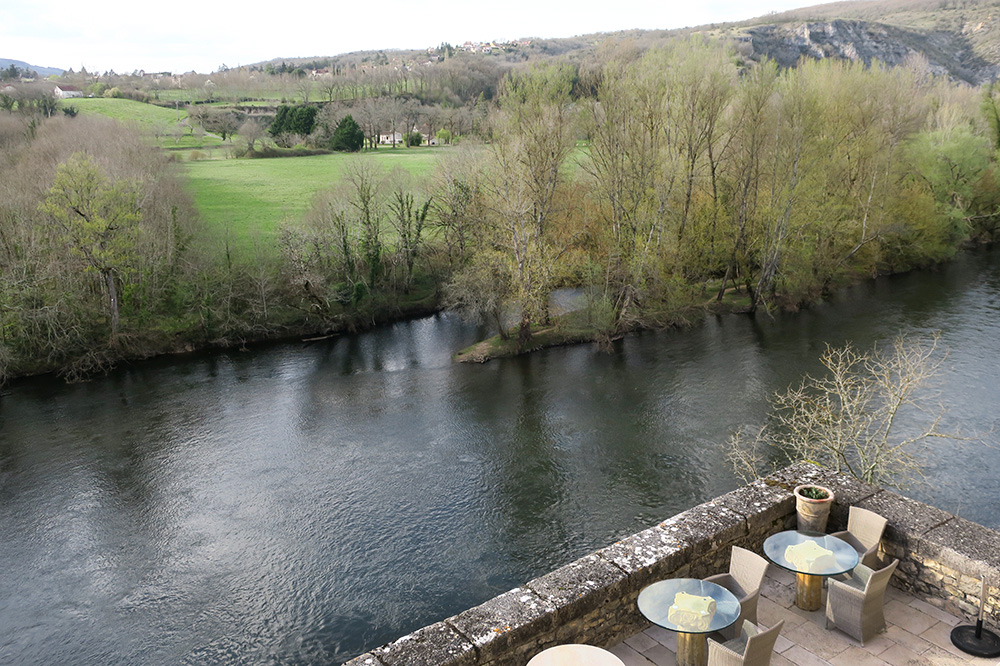 A view of the Dordogne valley from the terrace