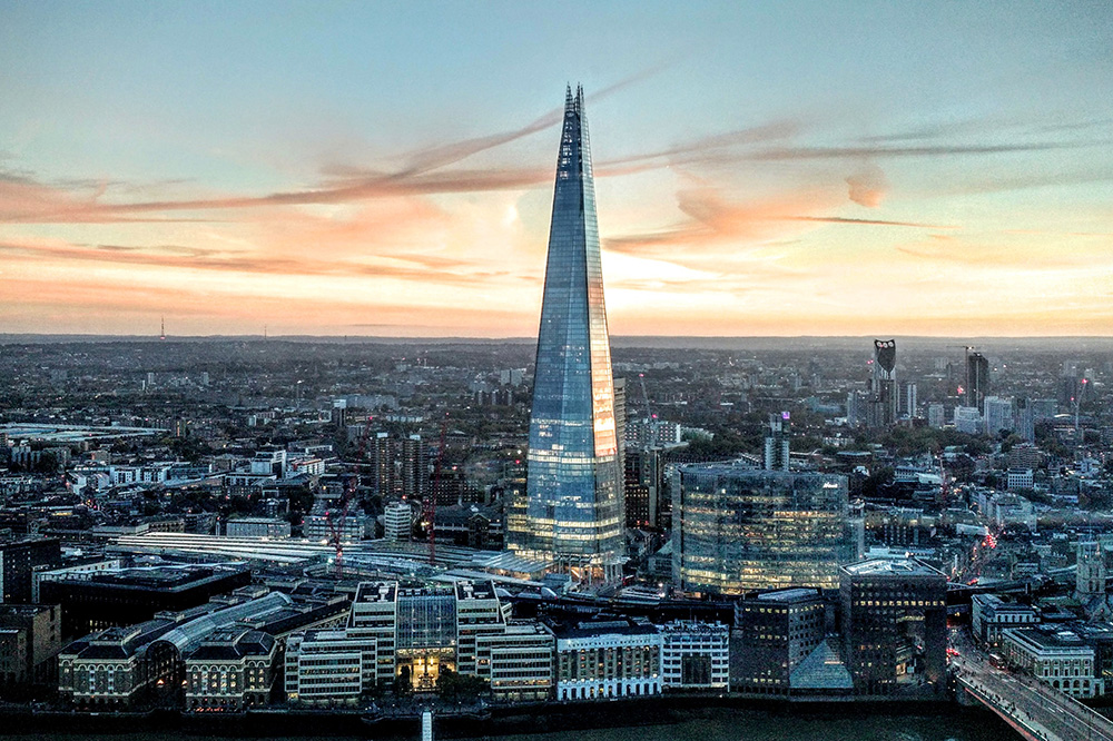 Renzo Piano's The Shard is a 1,016-foot-tall skyscraper
