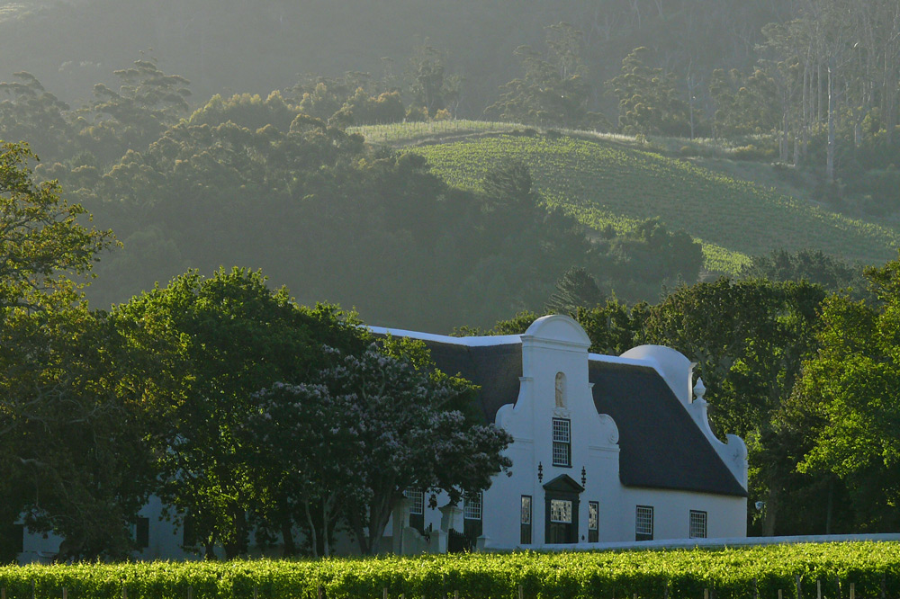 The main house and grounds of Groot Constantia near Cape Town, South Africa