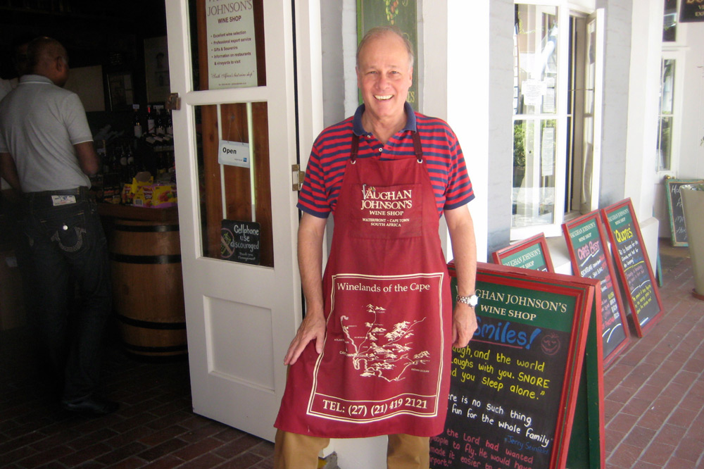 The eponymous owner of Vaughan Johnson's Wine Shop