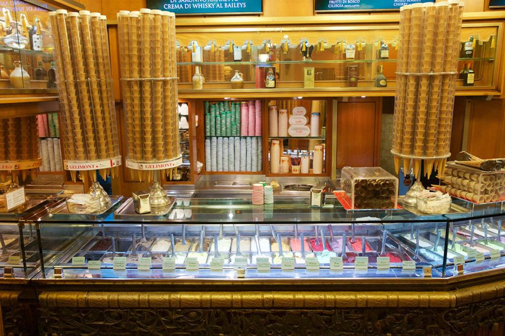 Ice cream counter in Giolitti