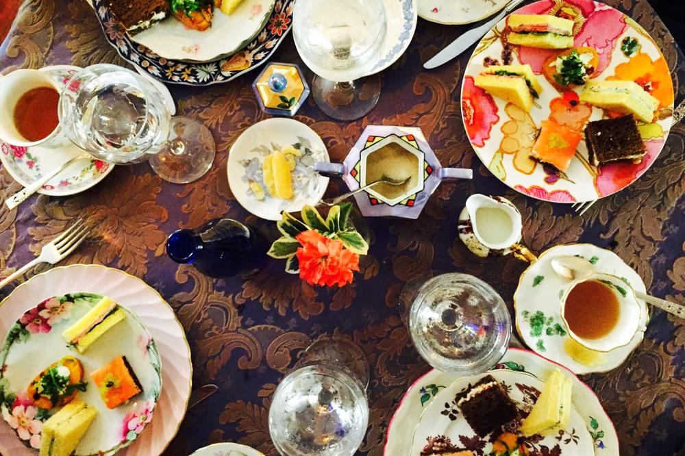 Spread of sandwiches and tea at <em>Lady Mendl's Tea Salon</em>