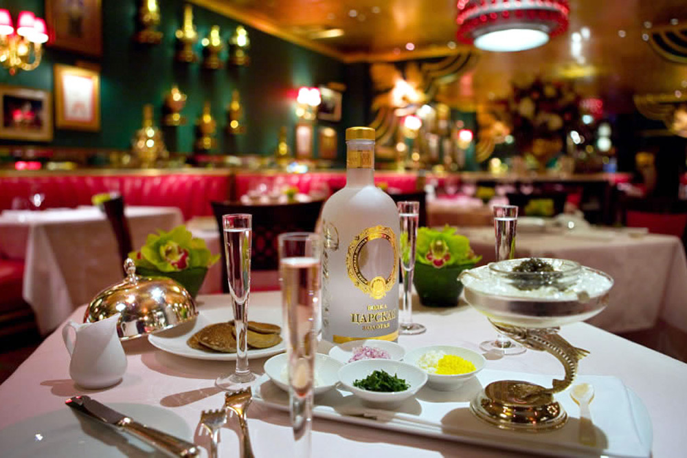 Russian trappings and ambiance at <em>The Russian Tea Room</em>