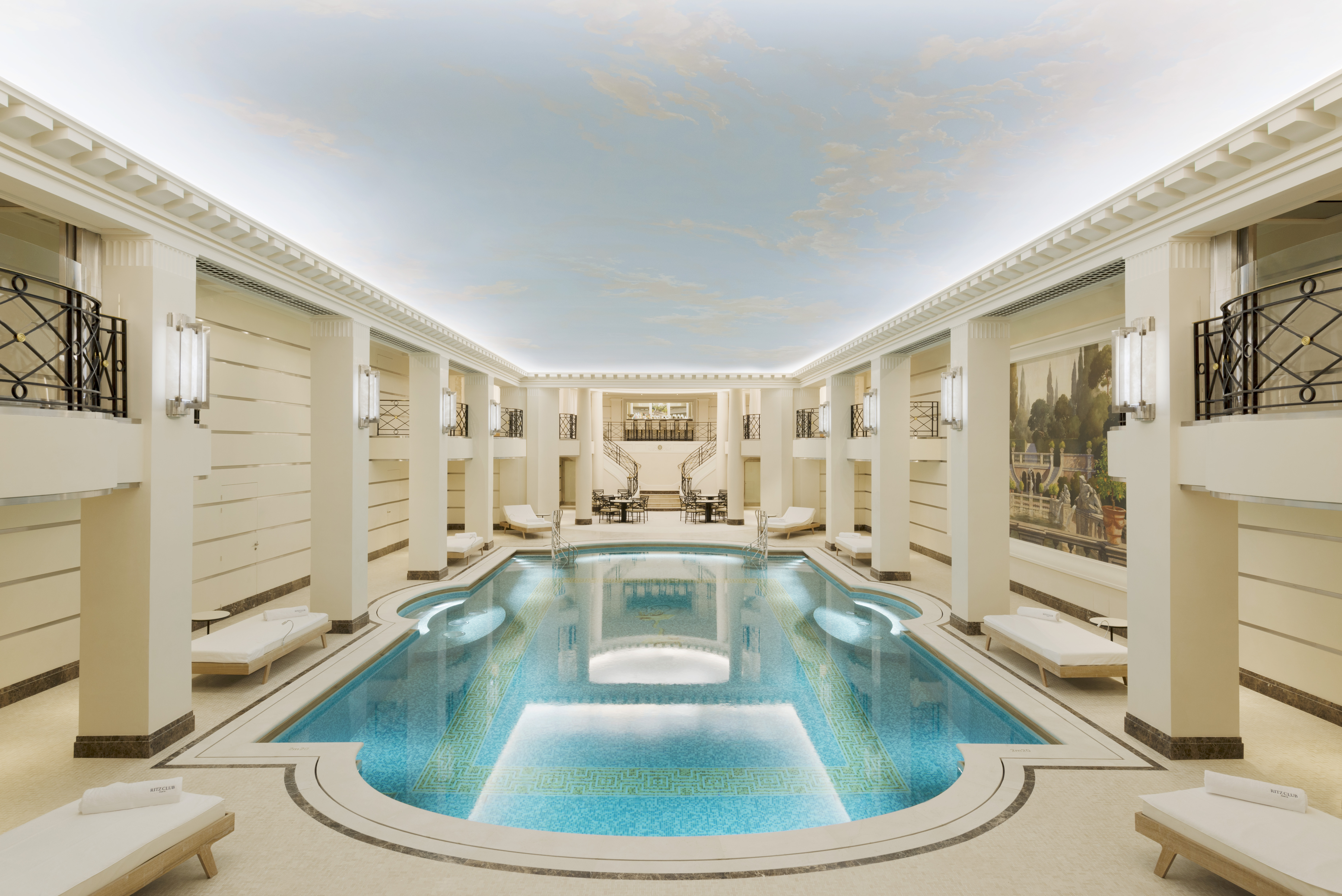 Interior pool at the newly renovated Coco Chanel spa at the Ritz Paris