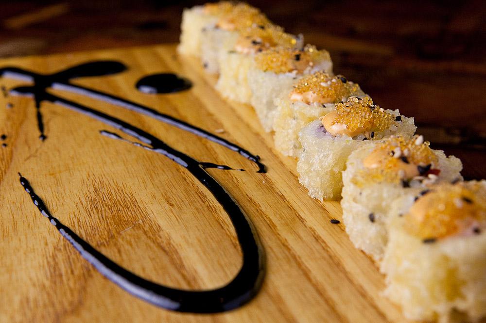 The Shag Roll with tempura, salmon and avocado at <em>Uchi</em>