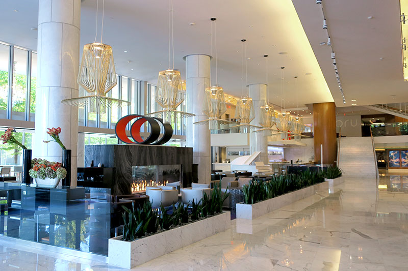 Main lobby at Fairmont Pacific Rim