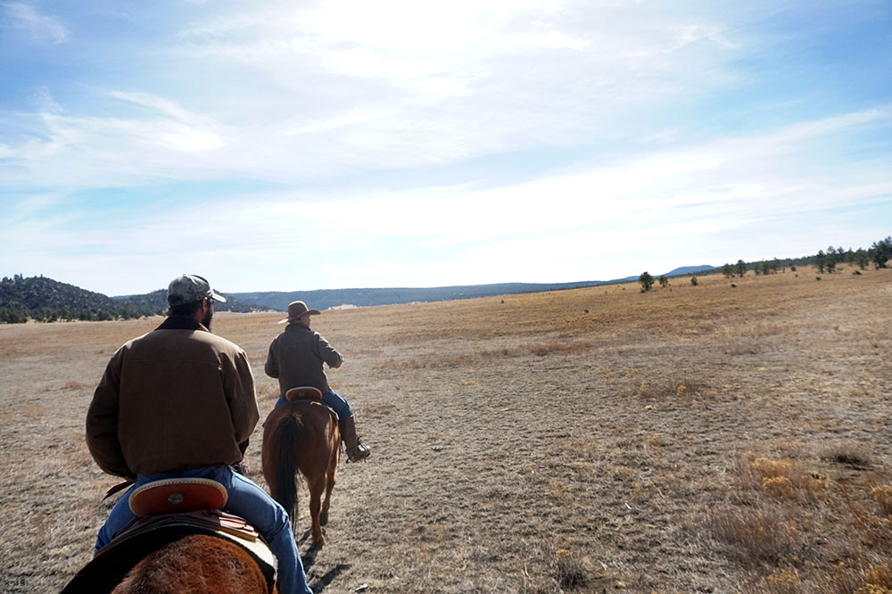 Horseback riding at Vermejo Park Ranch
