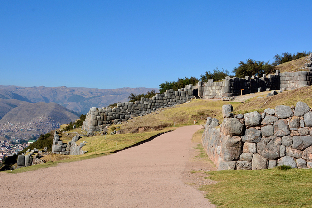 Sacsayhuaman and the view of the surrounding city of Cusco, Peru