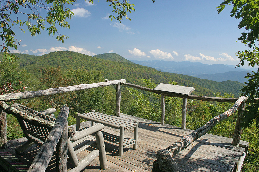 The view from The Swag in Waynesville, North Carolina