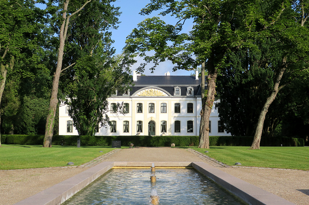 The exterior of the château at Weissenhaus Grand Village Resort in Weissenhaus, Germany