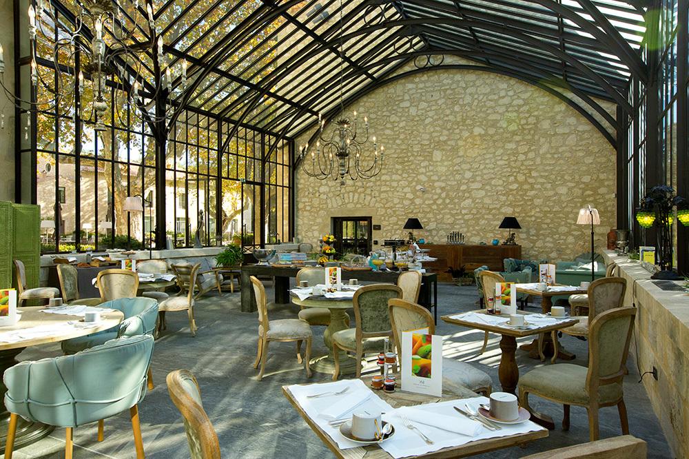 Winter Garden breakfast room at Domaine de Manville