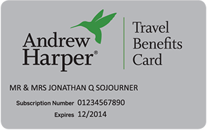 Andrew Harper Travel Benefits Card
