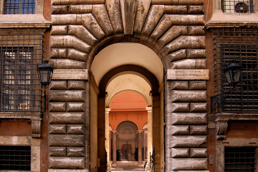 The Archway at Residenza Napoleone III in Rome, Italy