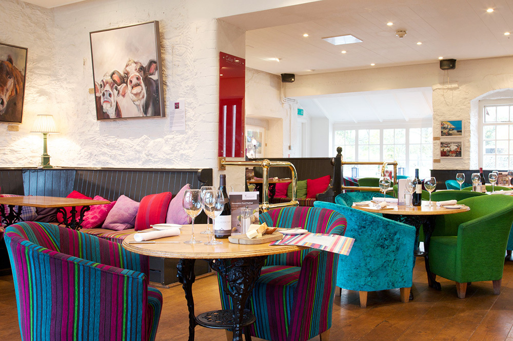 The Brasserie restaurant at The Devonshire Arms Hotel & Spa on the Bolton Abbey estate in North Yorkshire, England