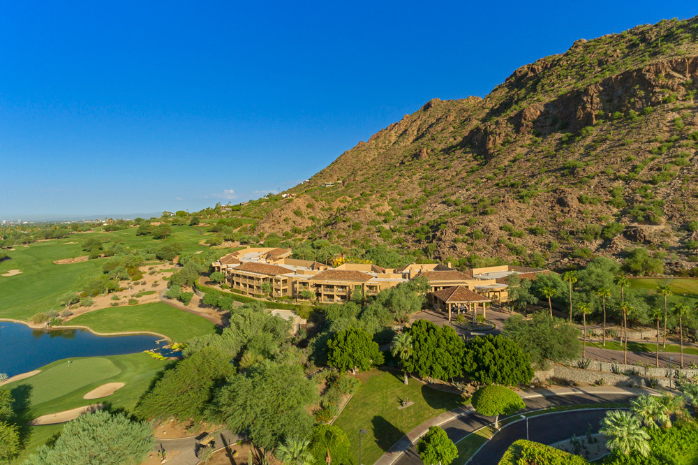 Aerial view of The Canyon Suites at The Phoenician