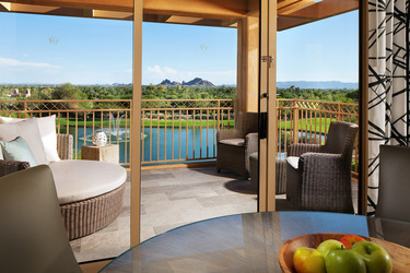 Suite with patio views of the golf course
