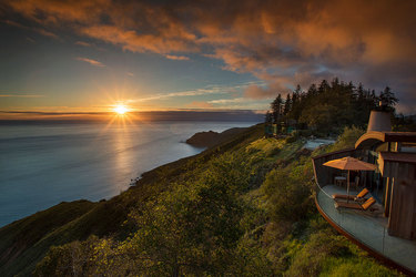 The coastline at Post Ranch Inn in Big Sur, California, United States