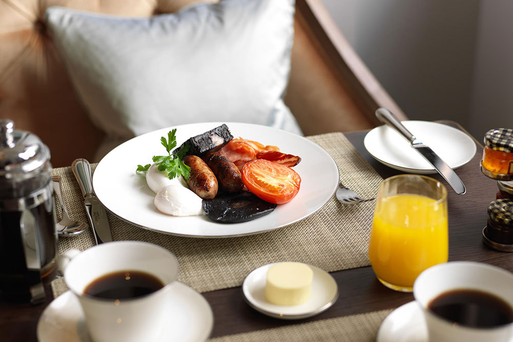 Full English Breakfast at The Athenaeum Hotel & Residences in London, England
