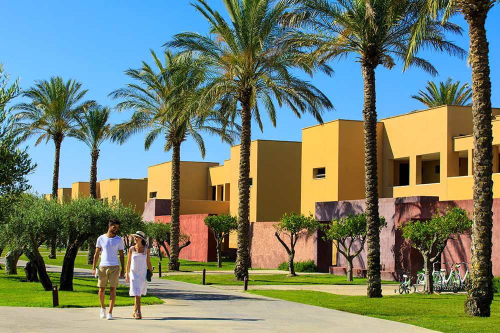 Exterior Of Buildings In The Courtyard At Verdura Resort Sicily Italy