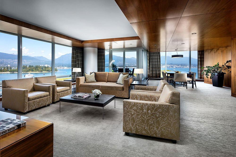 Fairmont Gold Corner Suite Living Room At The Fairmont Pacific Rim In  Vancouver, Canada