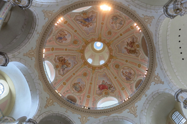 The painted dome at the Frauenkirche