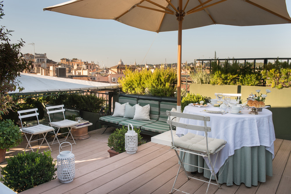 The Garden Suite Terrace at Residenza Napoleone III in Rome, Italy