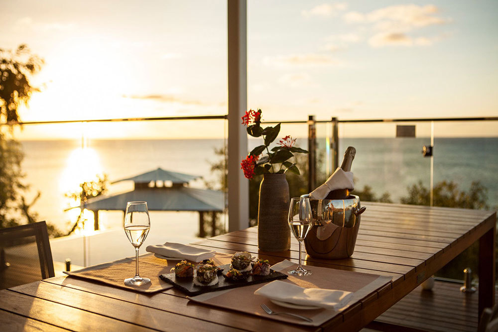 The Canapes dining area at Lizard Island Resort