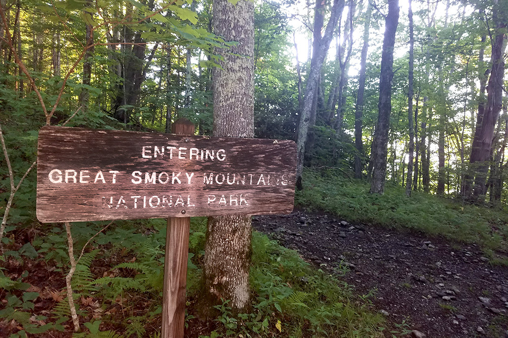 Hiking trails in Great Smoky Mountains National Park in North Carolina