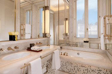 The bath of the Prestige Room at Hotel Eden in Rome, Italy