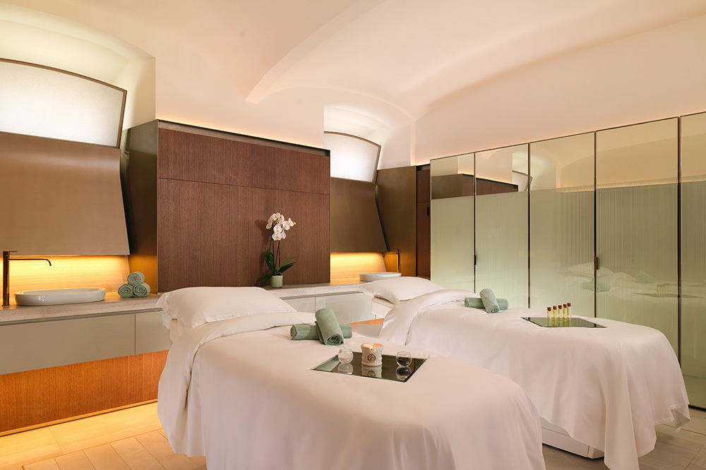 The double suite of The Eden Spa at Hotel Eden in Rome, Italy