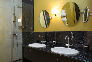 Bathroom at Valverde Hotel, Lisbon, Portugal