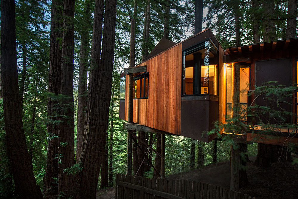 The Tree House exterior at Post Ranch Inn in Big Sur, California, United States