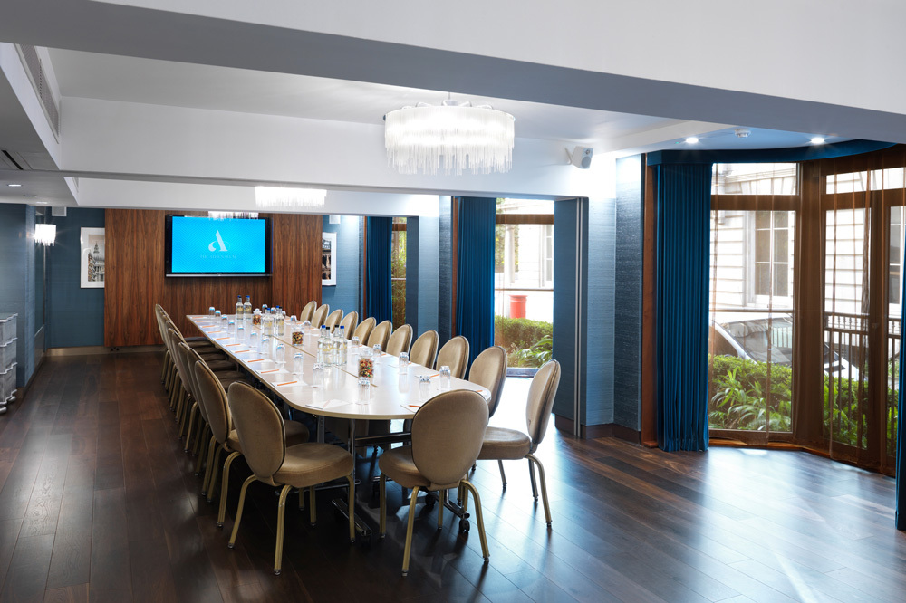 The Hyde Park Boardroom at Athenaeum Hotel and Residences in London, England