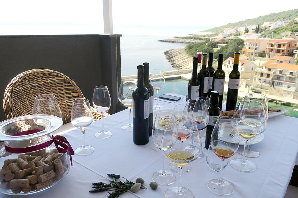 Wine tasting at Vinarija Krajančić in Korčula, Croatia