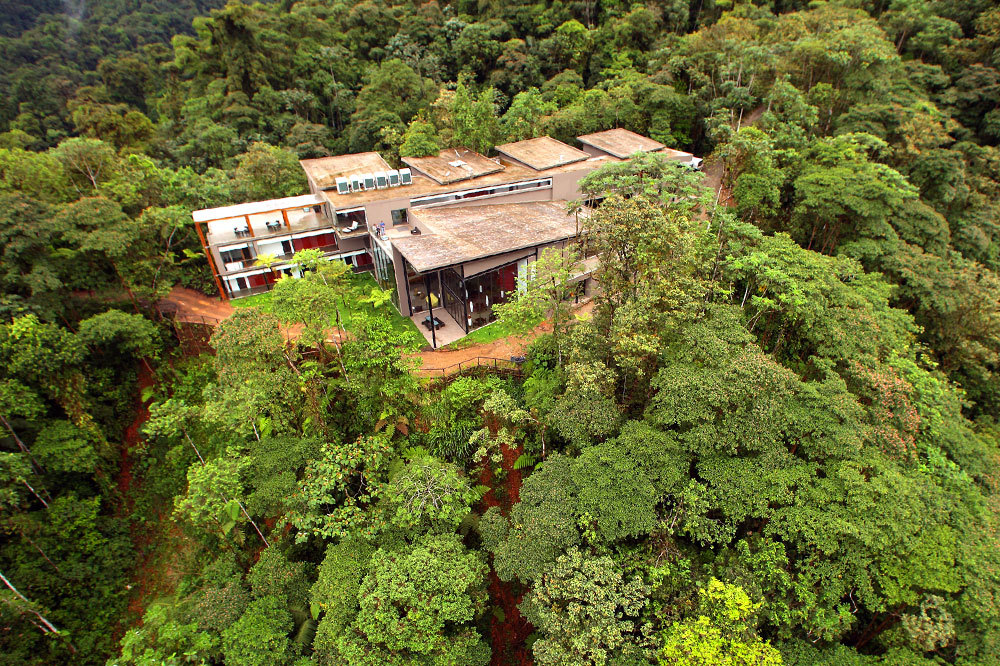 Aerial view of Mashpi Lodge