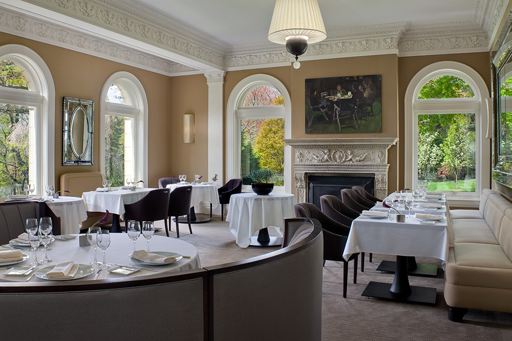 The Dining Room restaurant at Wheatleigh in Lenox, Massachusetts