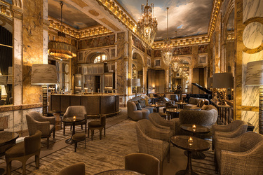Les Ambassadeurs bar at Hôtel de Crillon in Paris, France