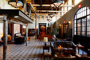 The lobby at Hotel Emma in San Antonio, Texas