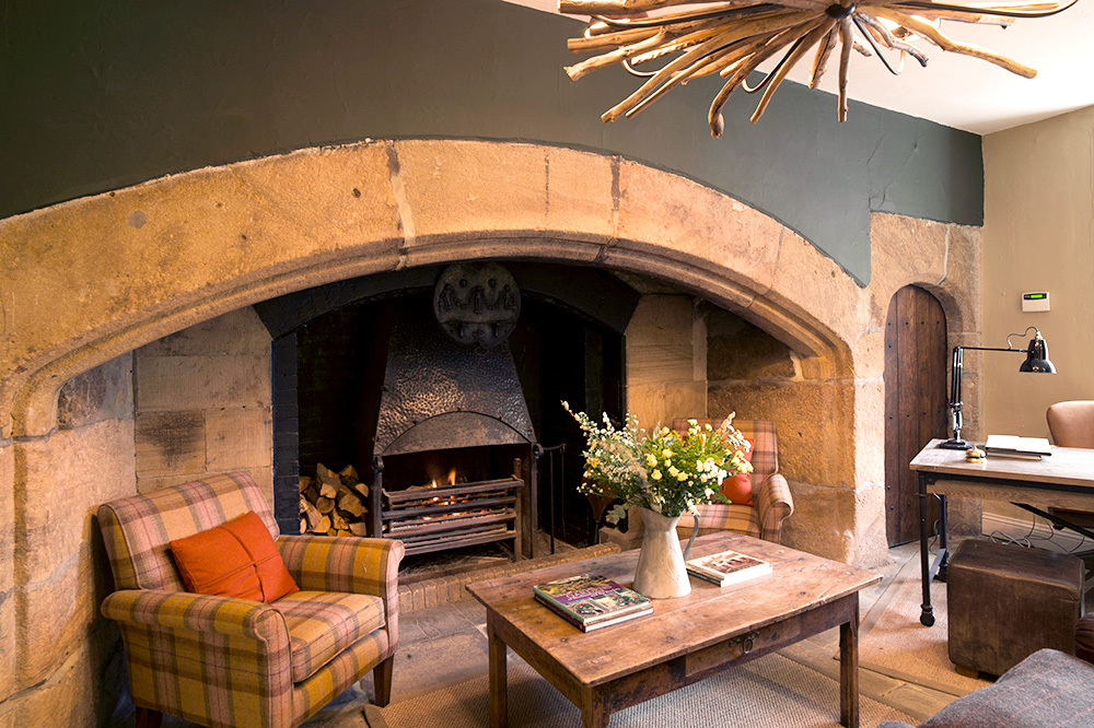 The Reception Area At Lord Crewe Arms In Blanchland England