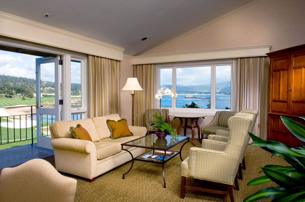 Deluxe Ocean View Suite at The Lodge at Pebble Beach
