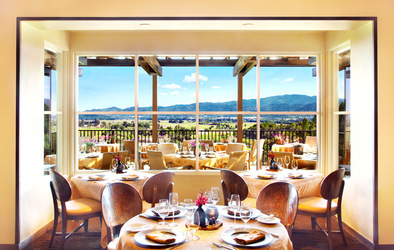 Restaurant view at Auberge du Soleil