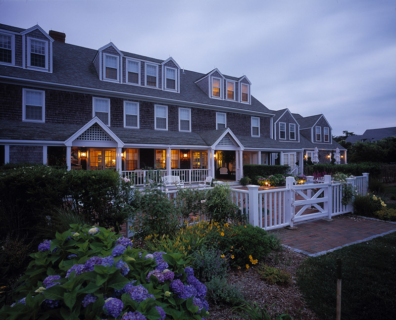 The exterior of The Wauwinet in Nantucket, Massachusetts