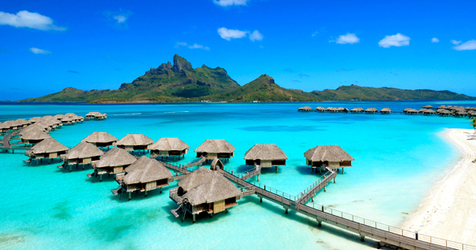 Four Seasons Bora Bora overwater bungalows