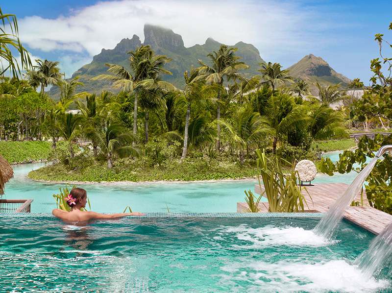 View from the spa at Four Seasons Bora Bora