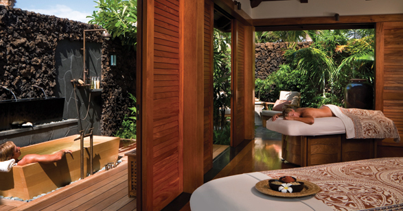 Luxury spa at Four Seasons Hualalai