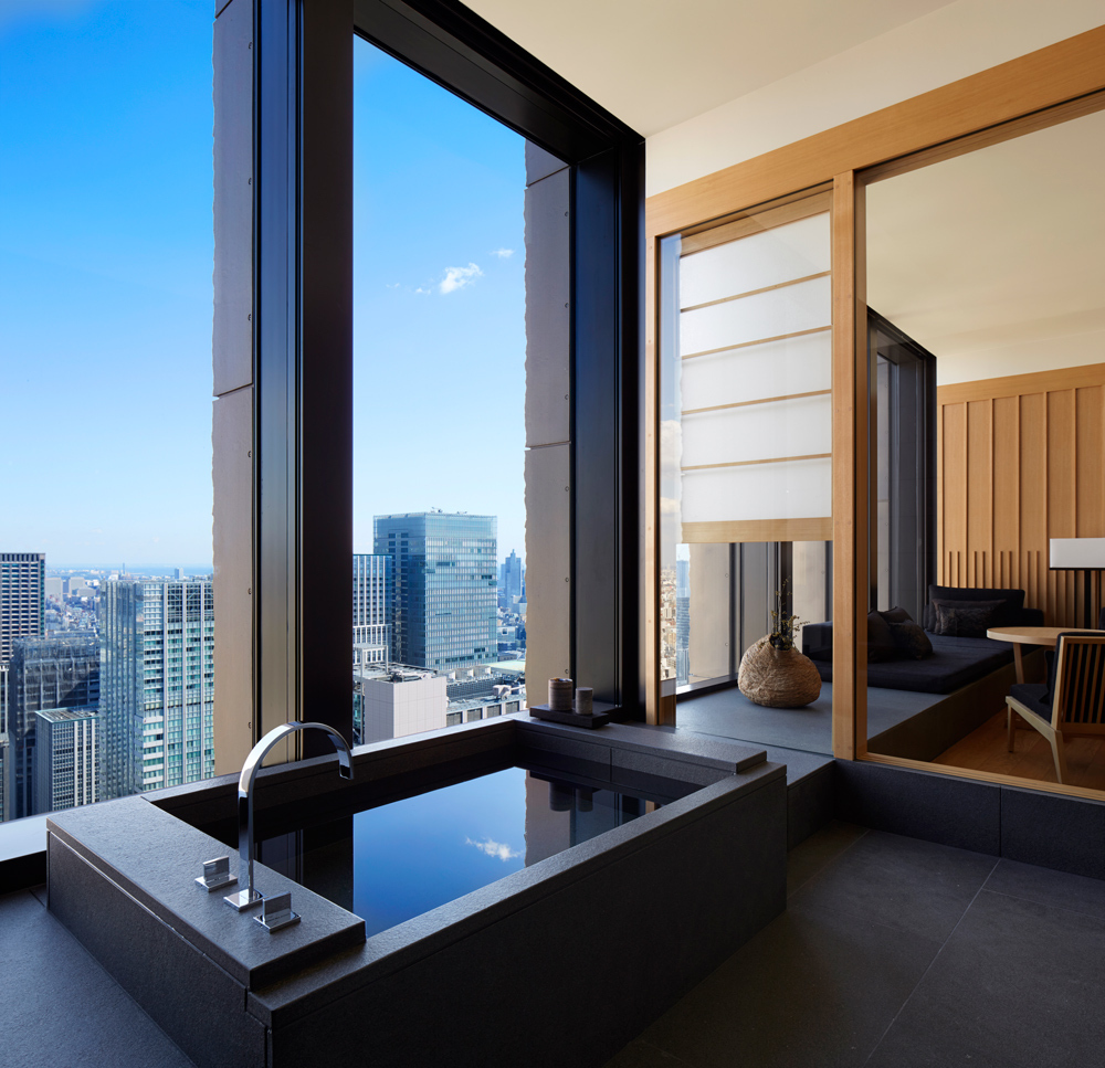 Aman tokyo luxury hotel in tokyo japan for Best modern hotels in the world