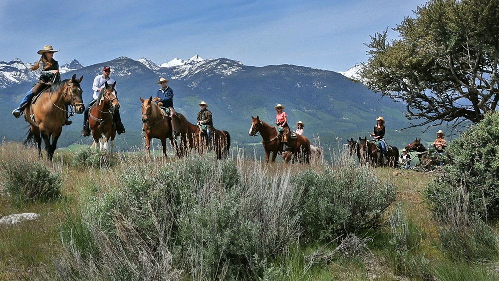 Triple Creek Ranch horseback riding